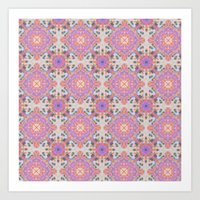 moroccan Art Prints featuring Faded Moroccan by k_c_s
