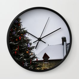 Chistmas in Old Quebec Wall Clock