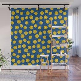 Blue Summer Lemons Wall Mural