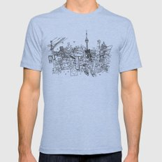 Toronto! Mens Fitted Tee Tri-Blue SMALL