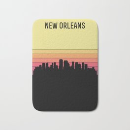 New Orleans Skyline Bath Mat