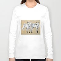 foxes Long Sleeve T-shirts featuring foxes by Ashley White Jacobsen