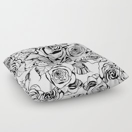 Hand drawn roses pattern Floor Pillow