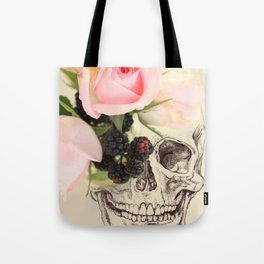 roses and blackberries Tote Bag