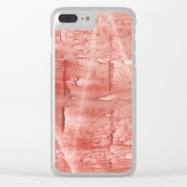 Pink abstract Clear iPhone Case