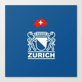 Zurich City of Switzerland Canvas Print