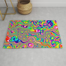 Warped Rainbow Rug