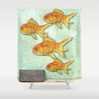 goldfish Shower Curtains featuring Goldfish by Mr & Mrs Quirynen