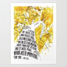 Mustard Seed Faith Tree - Matthew 17:20 Art Print