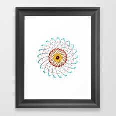 Radial Two Framed Art Print