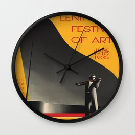 Vintage poster - Leningrad Wall Clock
