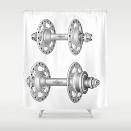 Campagnolo Record Pista Track Hubs Shower Curtain