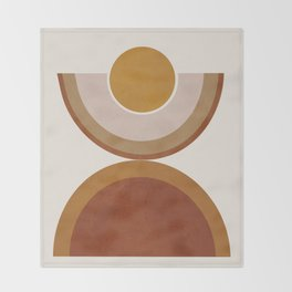 Modern Geometry Throw Blanket