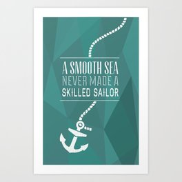 Skilled Sailor Art Print
