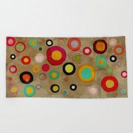 A few colorful vintage circles Beach Towel