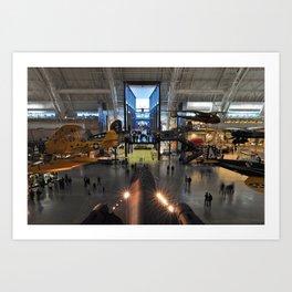 National Air and Space Museum Steven F. Udvar-Hazy Center Art Print