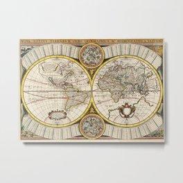 Vintage Celestial Map 1641 Metal Print