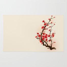 Oriental plum blossom in spring 012 Rug