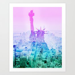 STATUE OF LIBERTY NEW YORK Art Print