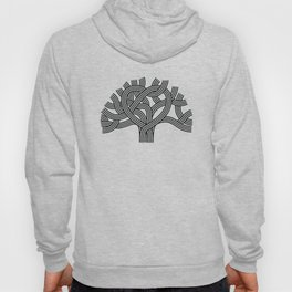 Oakland Love Tree (Black) Hoody