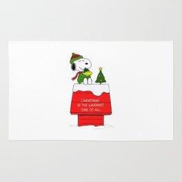 snoopy christmas home Rug
