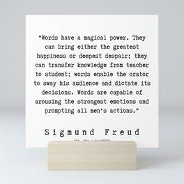 25  |   Sigmund Freud Quotes | 190926 Mini Art Print