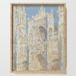 Claude Monet - Rouen Cathedral, West Façade, Sunlight Serving Tray