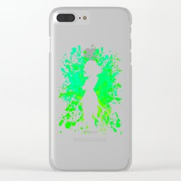 Anime Hero Paint Splatter Inspired Shirt Clear iPhone Case