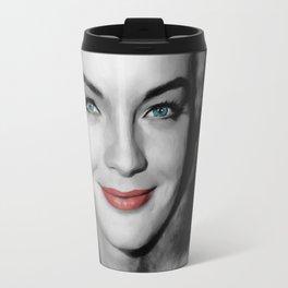 Romy Schneider Large Size Portrait Travel Mug