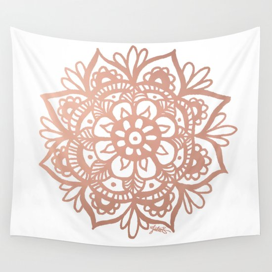 rose gold mandala wall tapestry home decor