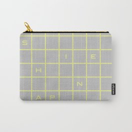 happy yellow graph Carry-All Pouch