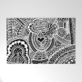 Love Doodle Welcome Mat