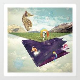 Quantic Jump Art Print