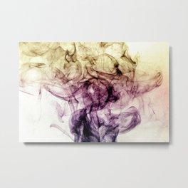 Abstract Purple Brown Smoky Dust Metal Print