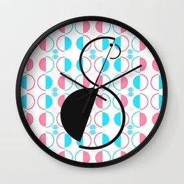 Flamingo Graphic Art Bird Wall Clock