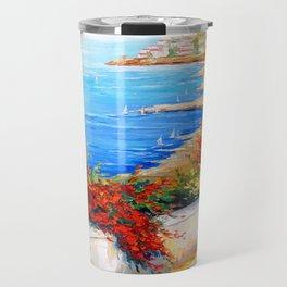 Bright day by the sea Travel Mug