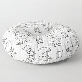 Inhale Exhale English Bulldog Floor Pillow