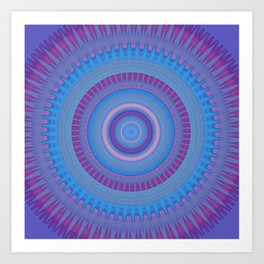 Electric Purple Blue Mandala Art Print