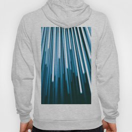 Hyperspace Fiber Optics Blue white Streaks Of Light Hoody