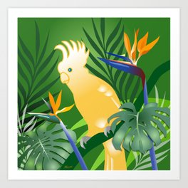 Cockatoo Paradise Art Print