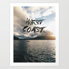 West Coast Beauty Art Print