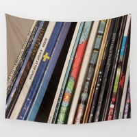records Wall Tapestries featuring Records 2 by RMK Creative