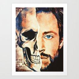 Will Graham Vintage Half Skull Mask Art Print