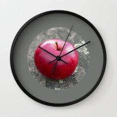 red apple VI Wall Clock