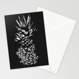 Pineapple with Glitch Stationery Cards