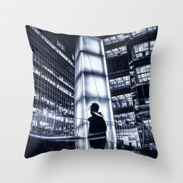 two sides of the same story Throw Pillow