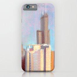October Sunset: Chicago Skyline iPhone Case