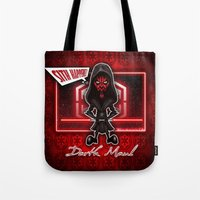sith Tote Bags featuring Darth Maul...Sith happens! by Emanpris Artcore