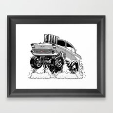 57 Gasser REV-3 SILVER Framed Art Print