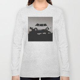 Saab 99 EMS, Gray on Black Long Sleeve T-shirt